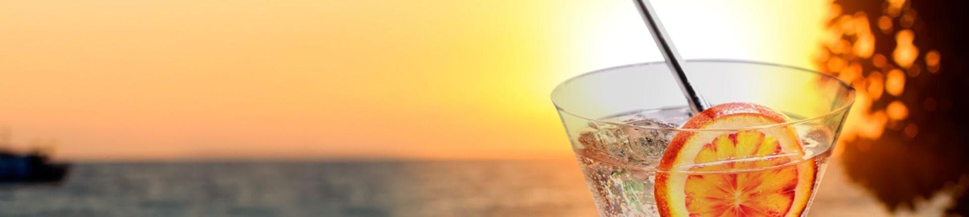 cocktails détente à base d'eau gazeuse