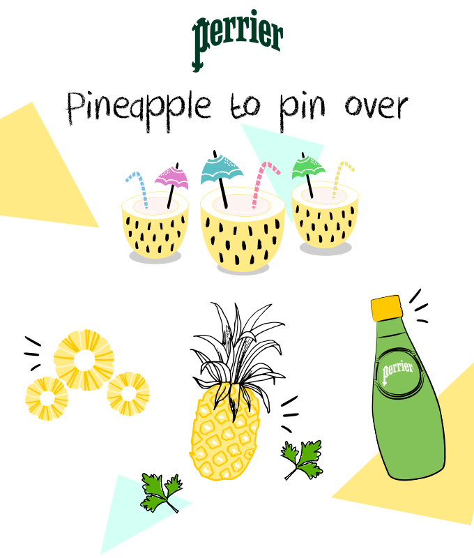 Pineapple to pin over