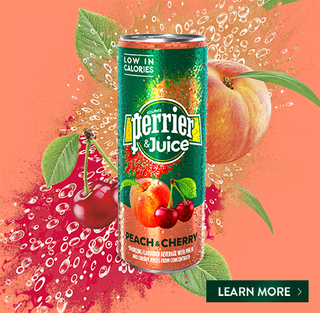 Perrier and Juice - Peach & Cherry