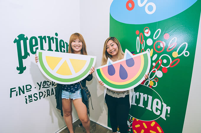 Attendees at the Perrier Flavor Studio popup
