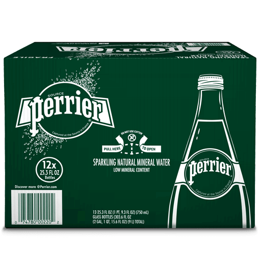 original unflavored perrier carbonated mineral water