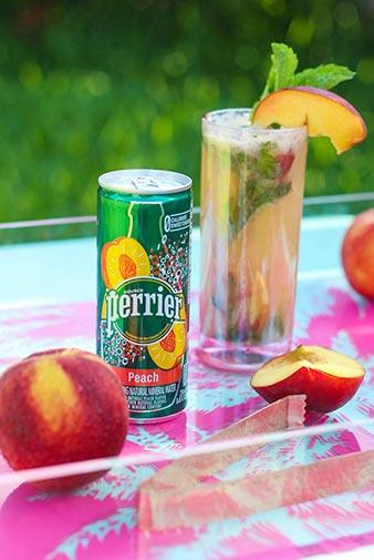 perrier peach and coconut mojito cocktail recipe