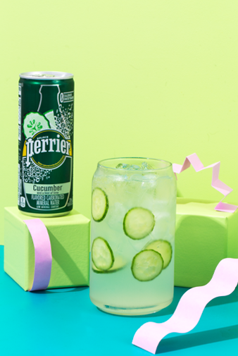 sparkling cucumber margarita perrier cocktail recipe