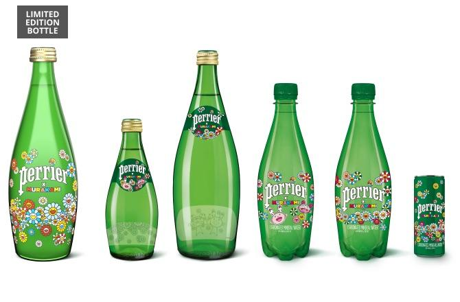 Perrier x Murakami products